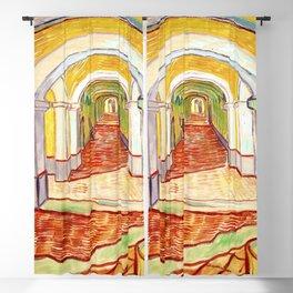 Corridor in the Asylum (1889) by Vincent Van Gogh Blackout Curtain