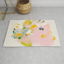 floral abstract spring bouquet 2 Rug