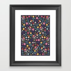 Ditsy Flowers Framed Art Print
