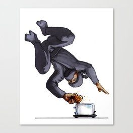 Ninja Making Toast Canvas Print