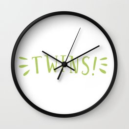 Were Expecting Twins Wall Clock