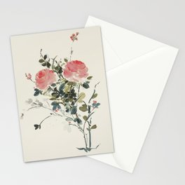 Roses in love. Stationery Cards
