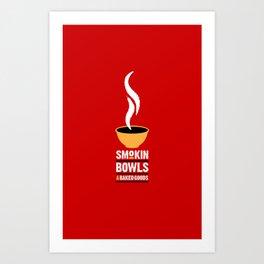 Smokin' Bowls and Baked Goods Art Print