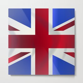 Union Jack Flag Metal Print