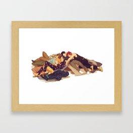 free sleepovers Framed Art Print