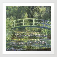 Vintage Monet Bridge  Art Print