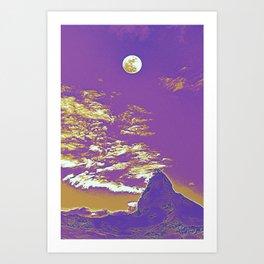 Matterhorn North Face, The Swiss Alps Travel Poster 2 Art Print