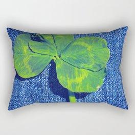 Lucky four leaf clover Rectangular Pillow