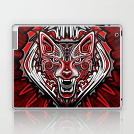 Wolf Tattoo Style Haida Art Laptop & iPad Skin