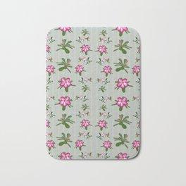 Desert Rose and Hummingbird Patterns Bath Mat
