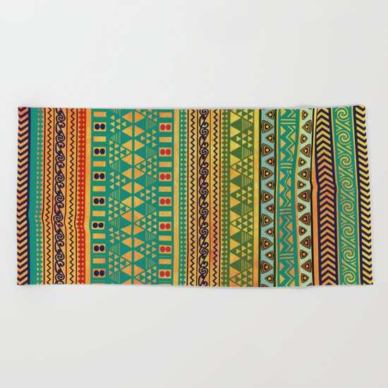 Inspired Aztec Pattern 3 Beach Towel