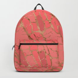 Living Coral texture Backpack