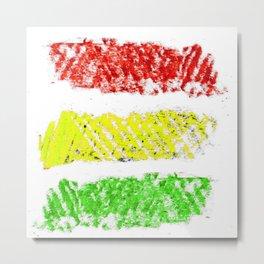 flag of bolivia 5 – Chalk version bolivian,boliviano,bolivian,Sucre, La Paz. Metal Print