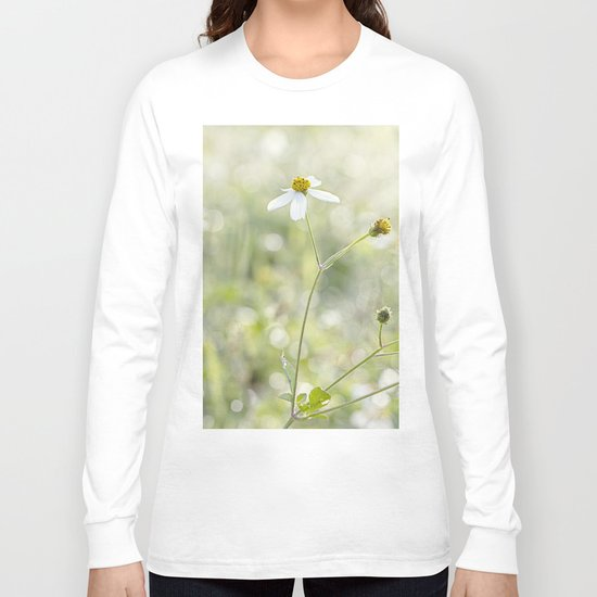 in the white Long Sleeve T-shirt