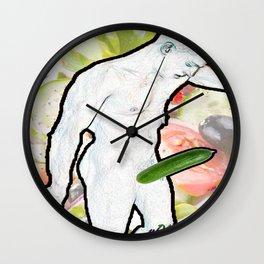 Cucumber Man Wall Clock