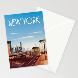 New york city poster Stationery Cards