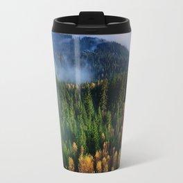Hovering Over Autumn Forest Travel Mug