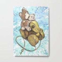 Teddy Bear Roadtrip Metal Print