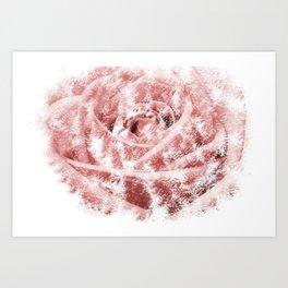 Faint Rose Art Print