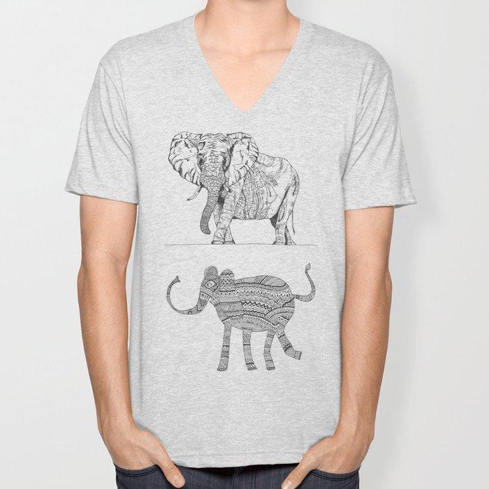 two ways to see one elephant Unisex V-Neck