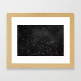 Bokeh Snowfall 2 Framed Art Print