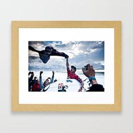 Mick Fanning  Surf, Hossegor- France - 2013 Framed Art Print