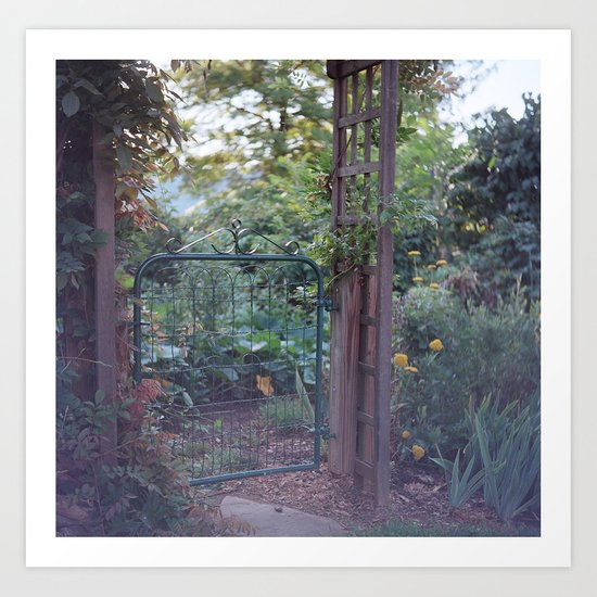 Garden Gate Art Print