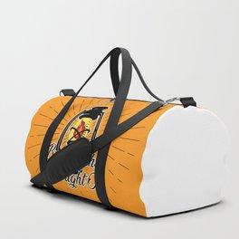 Midnight Oil - Orange Duffle Bag