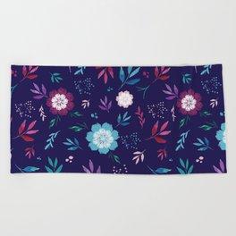 Floral Fantasy Beach Towel