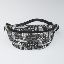 Gamer Lingo-Black and White Fanny Pack