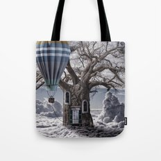 Home tree up in the clouds Tote Bag
