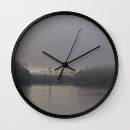 Sunrise at Kinabatangan river Wall Clock