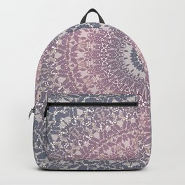 gray pink mandala Backpack