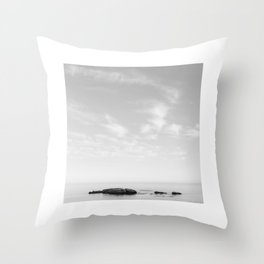 Minimal Rocks Throw Pillow