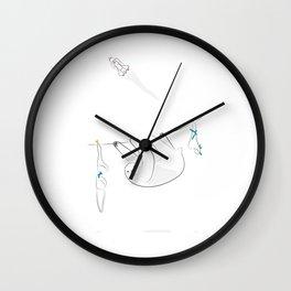 Svend the Sloth [dabble no. seven] Wall Clock