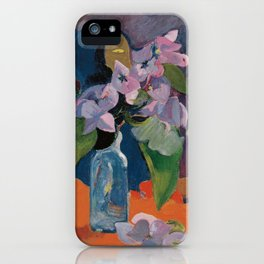 Paul Gauguin - Still Life with Flowers and Idol (1892) iPhone Case