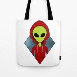 Hooded alien Tote Bag