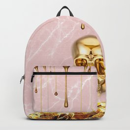 Gold skull Backpack