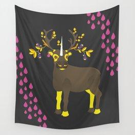 Reindeer Unicorn Wall Tapestry