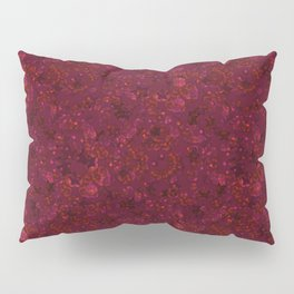 Red festive confetti. Red glitter. Pillow Sham