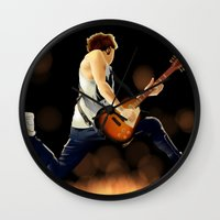 niall horan Wall Clocks featuring Niall Horan Soars by allthreeplease