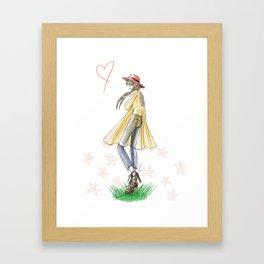 Festival Boho Girl Framed Art Print
