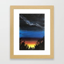 looking into the future Framed Art Print