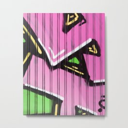 Super Pink Street Art Metal Print