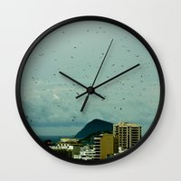 brazil Wall Clocks featuring brazil by SUKI TAM