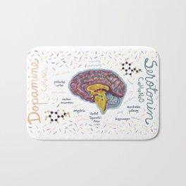 Dopamine and Serotonine in Brain Bath Mat