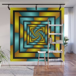 Colorful Tunnel 2 Digital Art Graphic Wall Mural