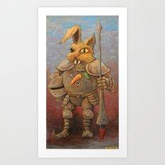 Sir Cabbit Art Print