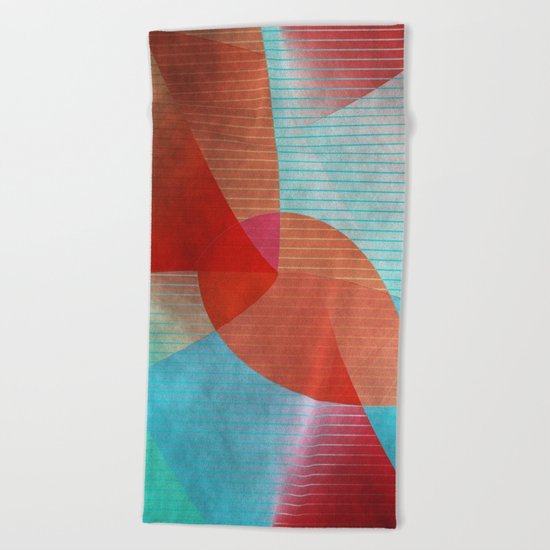 Multicolored abstract 2016 / 015 Beach Towel