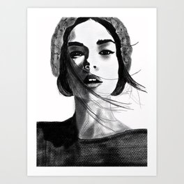 Counting days Art Print